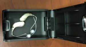 hearing aid in case