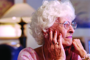 elderly woman - hearing care