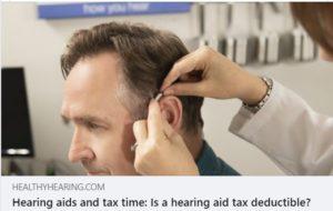 hearing aids tax deductible